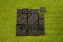 25mm Square bases, Diagonal Slotted, slotta, Slotter style