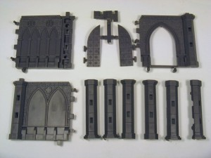 Gate, Pillars and short walls