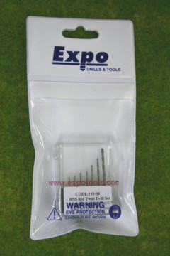 Expo Drill set 8 fine twist drills 11508
