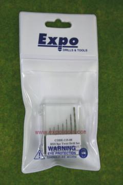 Expo Drill set 8 fine twist drills 11508