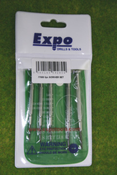 Expo Tools 5 PIECE JEWELLERS SCREWDRIVERS SET 77000