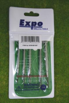 Expo Tools 5 PIECE JEWELLERS SCREWDRIVERS SET 77000
