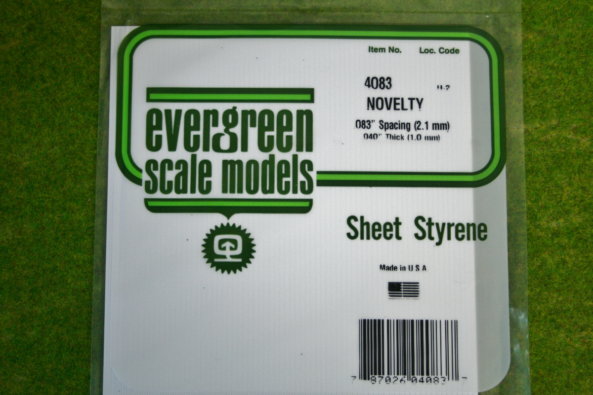 Evergreen sheet styrene novelty 040 4083 arcane for Evergreen shop
