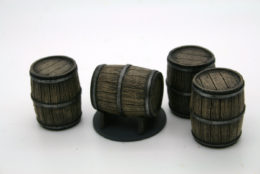 Trent Miniatures LARGE WINE OR SHERRY CASKS Resin Accessories 28mm