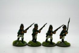 Trent Miniatures RUSSIAN MUSKATEERS FORAGE CAPS Pk of 8  RU06 28mm