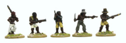 Trent Miniatures REVOLTING SLAVES w. Firearms pk of 8 figures Car03