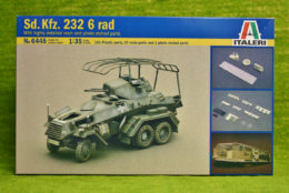 Sd. Kfz. 232 6 Rad Hi Detail 1/35 Scale Italeri 6445 D