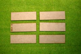 120mm x 40mm Rounded Corners LASER CUT MDF 2mm bases FOW