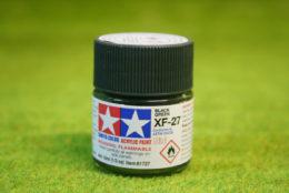 Tamiya Color BLACK GREEN Acrylic Mini Paint XF27 10mls