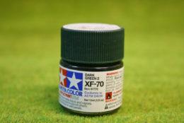 Tamiya Color DARK GREEN 2 (IJN) Acrylic Mini Paint XF70 10mls