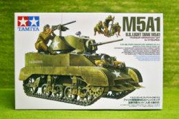 Tamiya U.S. M5A1 LIGHT TANK with Mortar Team 1/35 Scale Kit 35313