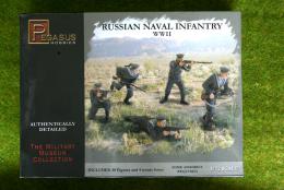 Pegasus WW2 RUSSIAN NAVAL Infantry  1/72 set 7270