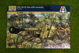 1:72 Scale PAK 40 AT gun with Crew WW2  Italeri 6096