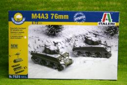 M4A3 76mm SHERMAN 1/72 quick build Italeri 7521
