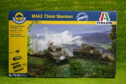 M4A3 75mm SHERMAN 1/72 quick build Italeri 7518
