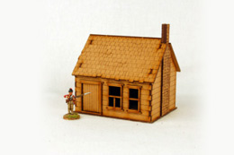 North American  HOUSE with STONE CHIMNEY #5 28mm M017 Sarissa Precision