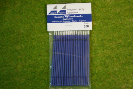 Albion Alloys Microbrush applicators – Ultrabrush Regular Blue Pack of 25 358