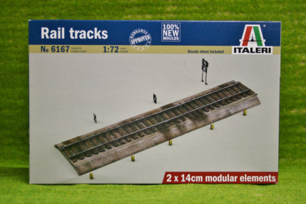 Italeri 1:72 Scale RAIL TRACKS for Dioramas & Terrain 6167