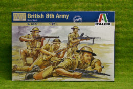British 8th army Infantry WWII 1/72  Italeri Kit 6077