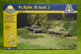 Italeri Pz. Kpfw. III Ausf. J Quick Build 1/72 kit 7507
