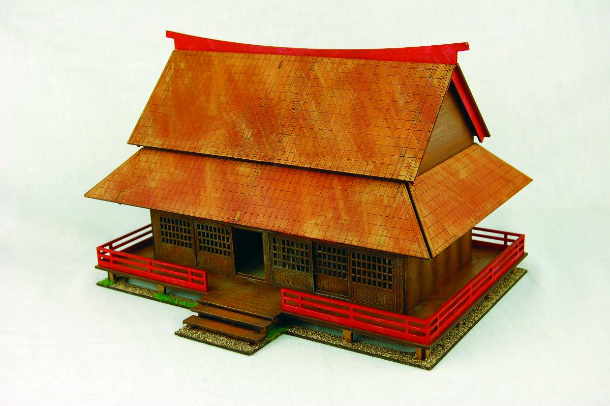 Japan Samurai House Samurai Japanese 28mm Laser Cut Mdf