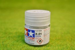 Tamiya Color ACRYLIC FLAT BASE Acrylic Mini Paint X21 10mls