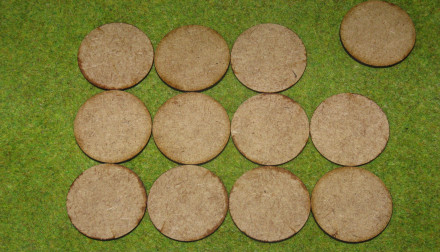 40mm ROUND LASER CUT MDF 2mm Wooden Bases for Wargames