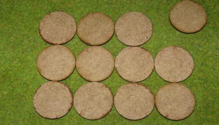 40mm ROUND LASER CUT MDF 2mm Wooden Bases for Wargames
