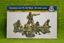 CANNONE DA 47/32 Mod. 39 with Crew WW2  Italeri 6490