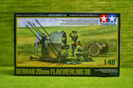 Tamiya GERMAN 20mm FLAKVIERLING 38 1/48 Scale Kit 54