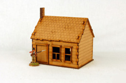 North American  HOUSE with STONE CHIMNEY #1 28mm M006 Sarissa Precision