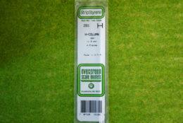 """EVERGREEN H-COLUMN STYRENE WHITE Plasticard .100/"""" #283"""