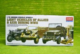 Academy LIGHT VEHICLES OF WORLD WAR TWO 1/72 kit 13416