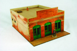 Old West Cowboy Building BRICK BANK  25mm, 28mm Terrain A006