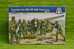 1:72 Scale ITALIAN CANNONE DA 149/40 with Crew WW2  Italeri 6165