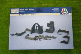 Walls & ruins WWII 1/72 Diorama terrain Italeri 6087