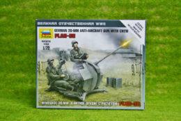 Zvezda GERMAN 20mm AA & Crew Flak-38 1/72 6117