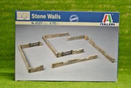 STONE WALLS 1/72 Italeri Kit 6127 Scenery & Terrain