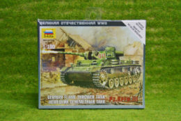 Zvezda GERMAN FLAME THROWER TANK PzIII  1/100 scale  6162
