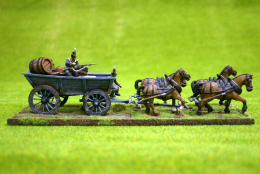 Trent Miniatures Wagon – PLANK SIDED WAGON 28mm Wargames