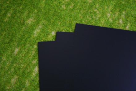 3 sheets of BLACK Plasticard 20/000 Terrain & Scenery