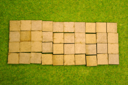 20mm x 20mm LASER CUT MDF 2mm Wooden Bases for Wargames