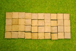 20mm x 20mm LASER CUT MDF 2mm Wooden Bases for Wargames