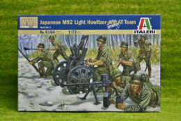 WW2 JAPANESE M92 LIGHT HOWITZER AND AT TEAM 1:72 Scale Italeri 6164