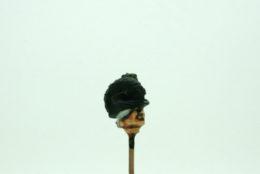 Trent Miniatures SEPARATE HEADS Round hat with crest & plume Wargames EDZ#1 28mm