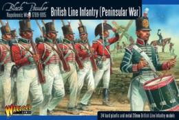 BRITISH NAPOLEONIC PENINSULAR WAR LINE INFANTRY Black Powder 28mm