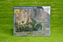 Zvezda GERMAN ANTI TANK GUN PAK-36 with crew 1/72  6114