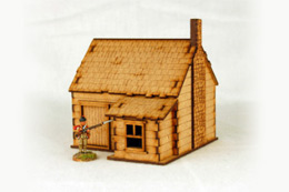 North American  HOUSE with STONE CHIMNEY #3 28mm M011 Sarissa Precision