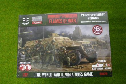 Flames of War GERMAN PANZERGRENADIER PLATOON 15mm GBX76