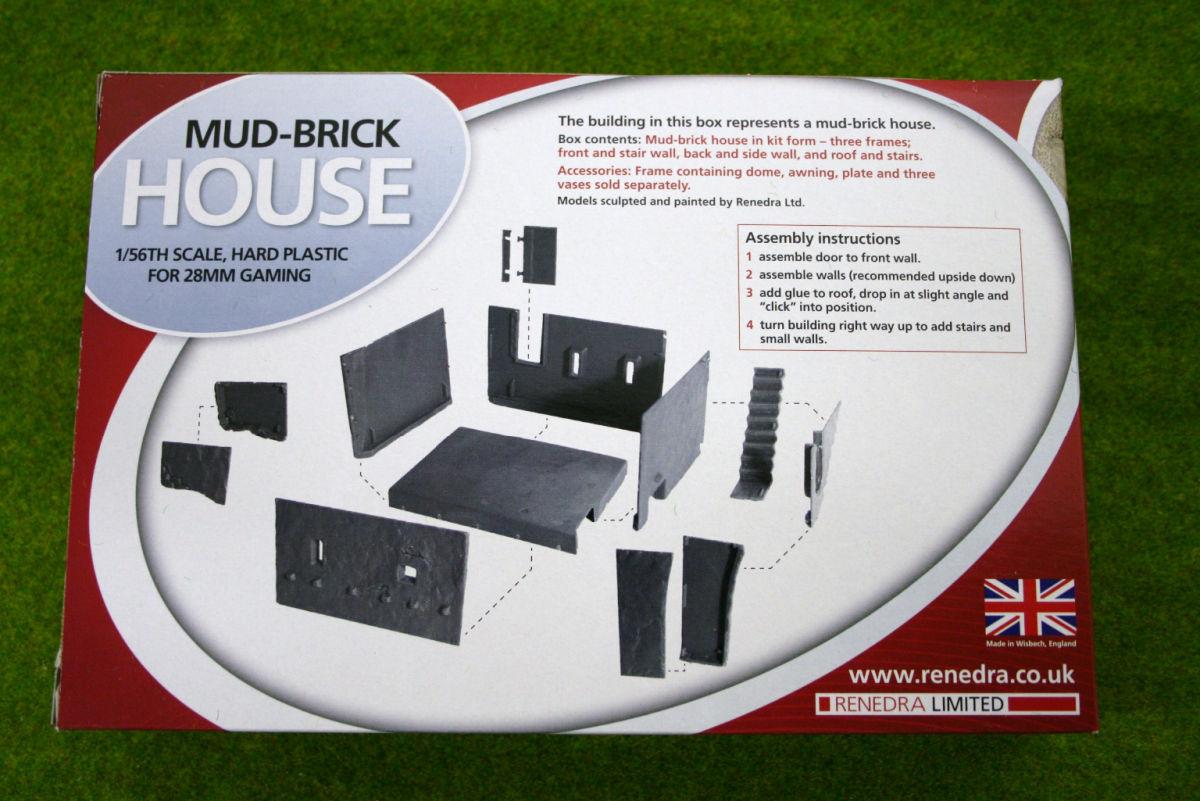 Mud brick house renedra scenery terrain 28mm arcane for Mud brick kit homes
